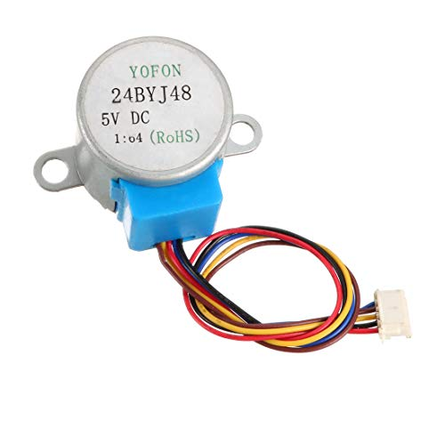 uxcell 24BYJ48 DC 5V Reduction Stepper Motor Micro Reducer Motor 4-Phase 5-Wire 1/64 Reduction Ratio