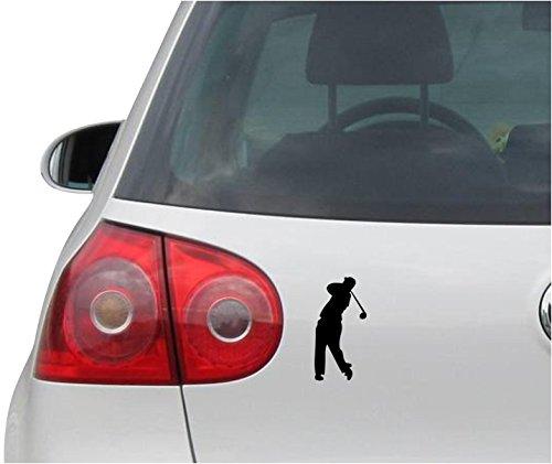 INDIGOS UG Aufkleber Autoaufkleber - JDM - Die Cut - Golfer Sticker Truck Bumper Fenster Folie - Folie Sticker - schwarz - 73mm x149mm