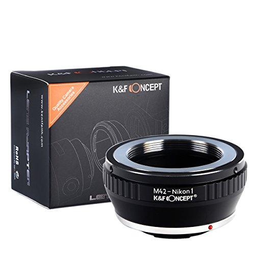 K&F Concept® M42-Nikon 1 Adapterring,Objektiv Adapterring Nikon,Objektivadapter für M42 Objektiv auf Nikon 1 Systemkamera V-1 J-1 V1 J1