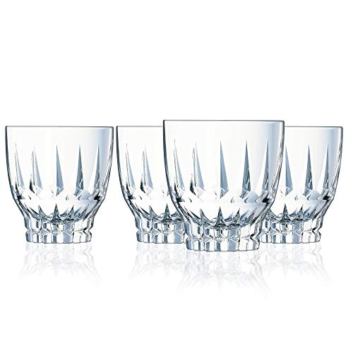 Cristal d'Arques L8170 Ornements - Set di 4 bicchieri da longdrink, in vetro di alta qualità, 36 cl, trasparente, 32 cl