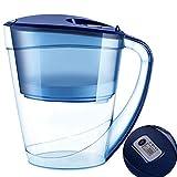 WAJIEFD-Caraffa filtrante Caraffa Filtrante Filtro Acqua Brocca Purificatore Filtro Acqua Alcalina 3L USA Quotidianamente Brocca d'Acqua , Filtrazione Veloce (Color : Blue)