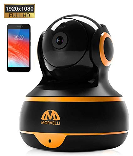 [New 2019] FullHD 1080p WiFi Home Security Camera Pan/Tilt/Zoom - Best Rated Smart App, Work with...