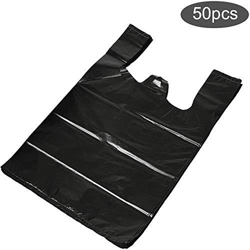 SMX Bin Tassen Zwart (50sts) Wegwerp luiertassen met handige handvat banden, Wegwerp vuilniszakken, Duurzame Prullenzak