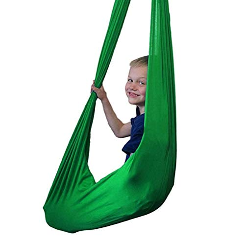 ZCXBHD Columpio De Terapia De Interior con Capacidad Carga 200Kg Hamaca De Abrazos Cuddle Hammock para Niños o Adultos Terapia de Autismo (Color : Dark Green, Size : 100x280cm/39x110in)