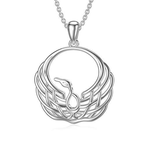 SIMONLY Phoenix Necklace 925 Sterling Silver Celtic Knot Pendant Celtic Jewelry Gifts for Women