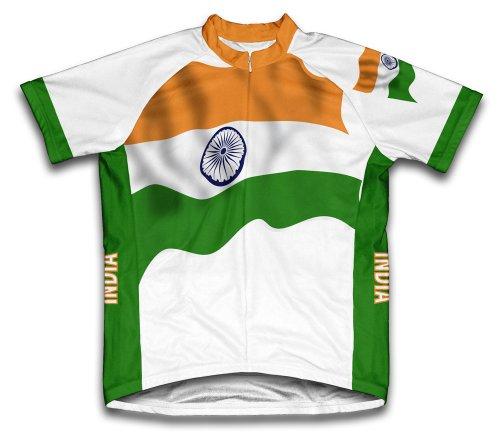 India Flag Radsport Trikot mit kurzer Ärmel für Menner -