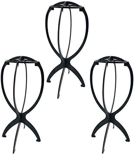 Goldenvalueable Collapsible Wig Stand Portable Wig Stand Wig Dryer 3 Pack product image