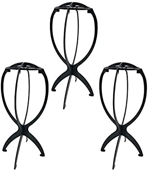 Goldenvalueable Collapsible Wig Stand Portable Wig Stand Wig Dryer-3 Pack