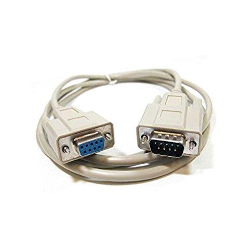 N.C. Cable Adaptador DB9Macho a DB9Hembra RS2326604951029046001.8M Gris Neuf