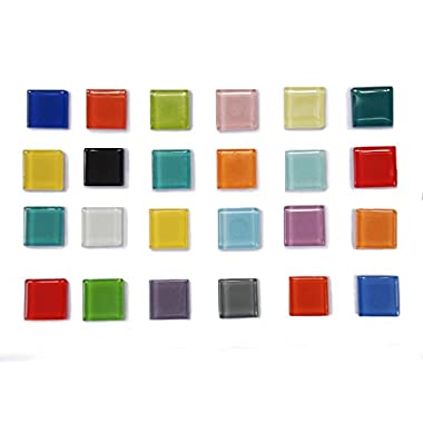 14-PCS Mix Color High Class Glass Refrigerator Magnets, Glass Magnets, Fridge Magnets,Whiteboard Magnets, Office Magnets for Magnetic Whiteboard, Calendar Magnets, Map Magnets