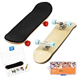 HEHALI 2 PCS Wooden Fingerboards Professional Mini Finger Skateboard