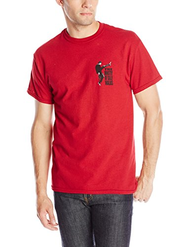 Liquid Blue Men's Monty Python Ministry Of Silly Walks T-Shirt, Red, Large