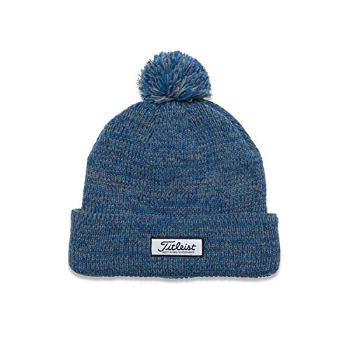 Titleist Winter Golf Hats and Beanies (Pompom Winter Hat, Beanie) (Pompom Winter Hat, Heather Blue)