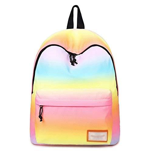 Alvnd Fashion Gradient Rugzak-school-nylon rugzak laptoptas waterafstotend gelegenheden canva daypack reizen 40 * 32 * 17cm D