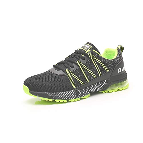 Zapatillas Running Hombre Mujer Zapatos Deporte para Correr Trail Fitness Sneakers Ligero Transpirable green39