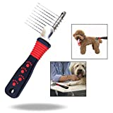 OFKPO Pet Dematting Comb,Detangling Matted or Knotted Undercoat Hair Grooming Accessories Tool