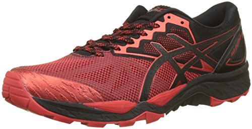 Asics Gel Fujitrabuco 6, Zapatillas de Running para Asfalto Hombre, Rojo (Black/Fiery Red/Black 9023), 43.5 EU