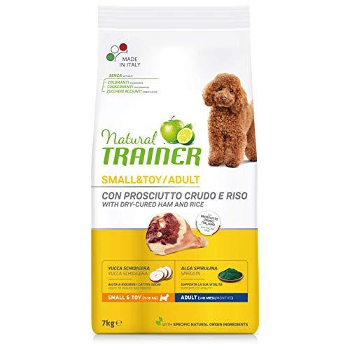 Trainer Natural Cibo per Cani Small & Toy Prosciutto Crudo e Riso 7kg