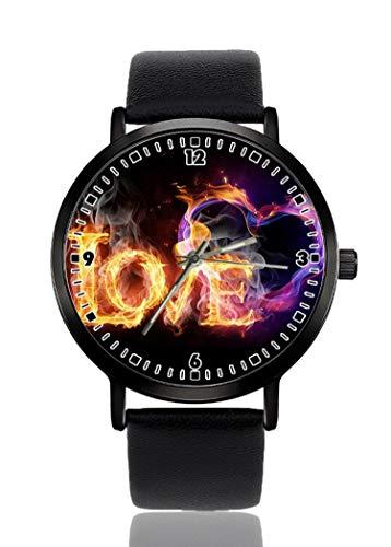 Earth Fire Water orologio da polso per uomo donna casual cinturino in pelle analogico al quarzo unisex moda orologi da polso