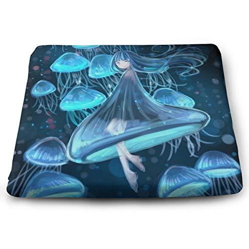 Memory Foam Pad zitkussen. Autostoel kussens om hoogte te verhogen - bureaustoel comfortabel kussen - blauwe kwallen onder water