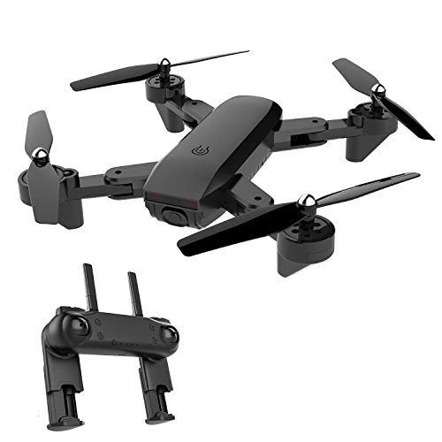BABRIC Biff-1 WiFi FPV RC Drones with 720P HD Camera Long Flight Time Quadcopter for Kids & Beginners - Altitude Hold, One Key Start, Foldable Arms,Bonus Battery (Black)