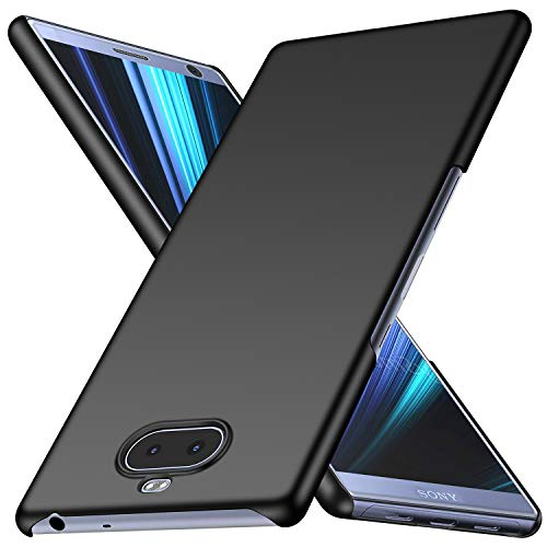 Arkour Sony Xperia 10 Plus Hülle, Minimalistisch Ultradünne Leichte Slim Fit Handyhülle mit Glattes Matte Oberfläche Hard Case für Sony Xperia 10 Plus (Glattes Schwarz)
