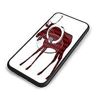 格子縞のバッファローiPhone XS ケース/iPhone X ケース 5.8インチ 強化ガラス 耐衝撃 ガラスTPU バンパー薄型 携帯カバー 全面保護 リング付き 衝撃防止 スタンド機能 高級感 おしやれ 人気 かわいい