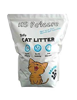 HS Petcare Cat Litter Litière Bio Naturelle pour Chat (Parfum Original Tofu 4,8 L) Superbe agglomérant Excellent contrôle des odeurs réduit Les déchets Longue durée jetable sans poussière