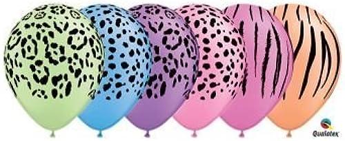 seguro de calidad Neon Safari Assortment Qualatex Latex Balloons, Balloons, Balloons, 11-Inch 25 Per Pack by Qualatex  minorista de fitness