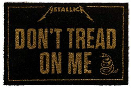 for-collectors-only Metallica - Felpudo, diseño con Texto Don't Tread On Me