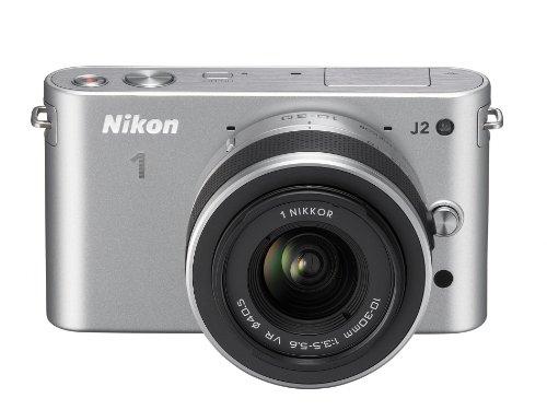 Nikon 1 J2 Systemkamera (10,1 Megapixel, 7,5 cm (3 Zoll) Display) Kit inkl. Nikkor VR 10-30 mm silber