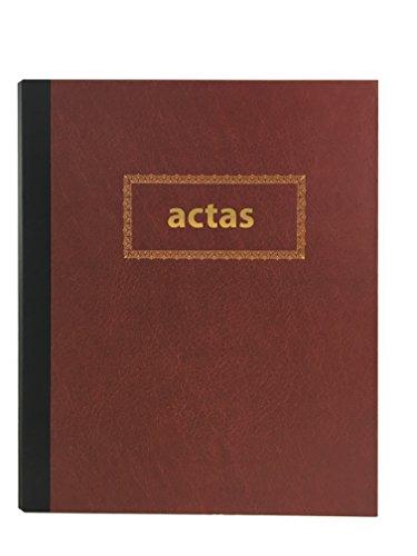 Libro de Actas de Hojas Móviles - Color Burdeos (Modelo 2)