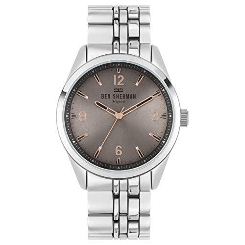 Ben Sherman Herren Analog Quarz Uhr mit Aluminium Armband WB057ESM