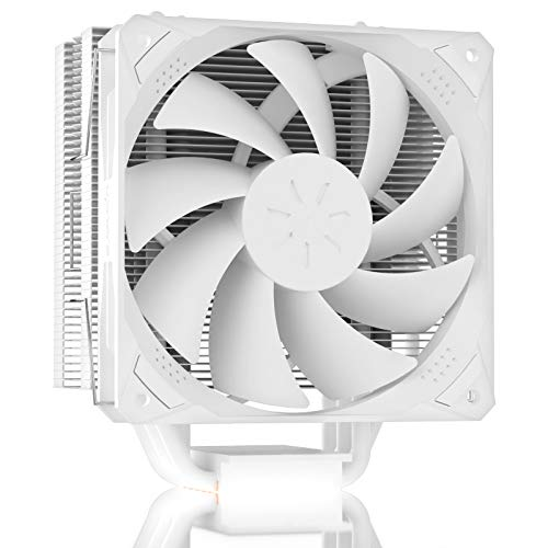upHere N1064WT - Ventilador para CPU (6 tubos de calor, 120 mm, PWM, para Intel y AMD, color blanco)