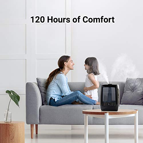 Winix L200 Ultrasonic Warm and Cool Mist Humidifier, 120 Hrs. Run Time, 2 Gal. Tank, Large Rooms, Quiet, LightCel UVc-LED Treated Tank, Essential Oil Tray with pre-soaked Essential Oil Pads
