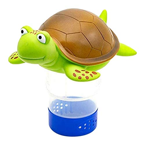 Premie Dierlijke Pool Chloordrijver, SchildpadDrijvend Zwembad Chloordispenser Voor Chemische Tabletten Past Op 3tabbladen Broomhouder