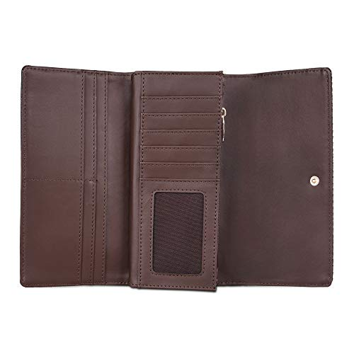 Lavie Astrid Large Tri Fold Zip 2 Women's Wallet(Brown)