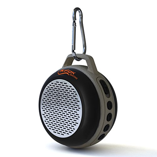 Ultra Portable Wireless Bluetooth Speaker with Clip for iPhone iPad iPod Android or PC with FM Radio, AUX, SD and Speakerphone, Outdoor and Indoor