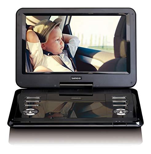 Lenco DVP-1210 - 12 inch draagbare HD DVD-speler - 2200 mAh geïntegreerde accu - met auto-adapter - zwart