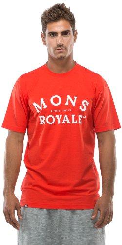 Mons Royale Regular T-Shirt pour Homme en Laine mérinos M Rouge - Rouge