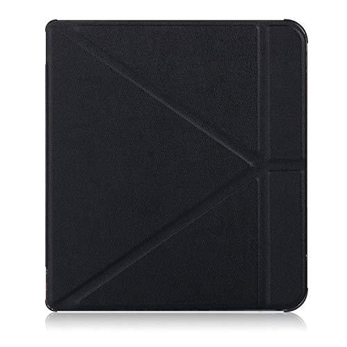 Xuanbeier TPU Funda Ultra Delgado para Kobo Forma 8 Pulgadas E-Book Reader, con mltiples ngulos,Negro
