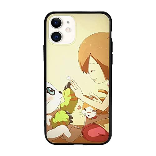 Compatibile con iPhone 12/12 11 Pro Max mini X/XS Max XR 8 7 6 6s Plus SE Caso Samsung S21 Ultra Black Custodie per cellulari Cover Gatomon Digimon