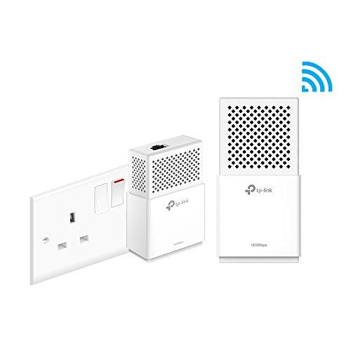 TP-Link tl-wpa7510kit 1200Mbit/s DUAL BAND GIGABIT AC750Powerline Adapter, Range Extender, Breitband-/WI-FI Extender, Wi-Fi Booster/Hotspot, Wi-Fi auto-sync, UK-Stecker