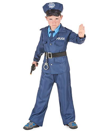 Generique Déguisement Policier garçon 7 à 9 Ans