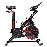 JK FITNESS - Spin bike indoor cycles JK527 - Volano 20 kg - Portata max 130 kg - trasmissione a cinghia