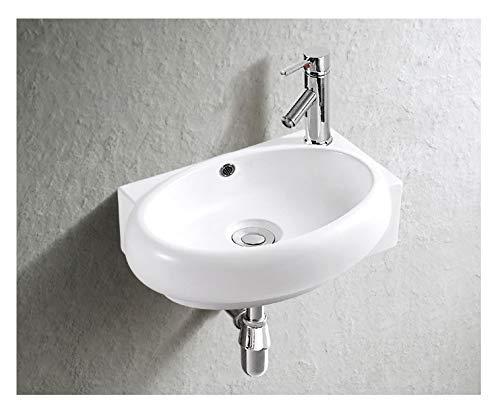Waschbecken Design Handwaschbecken Eckwaschbecken klein 400 * 280 * 120 mm mm in Hochglanz weiß, mit Lotus Effekt (3052) von Art-of-Baan®
