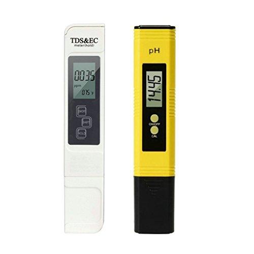 GuDoQi Probador de la Calidad del Agua Digital PH TDS Probador 4-en-1 Tester TDS EC Temperatura PH Medición de Agua Potable en el Hogar Piscina de Acuario Hidropónico