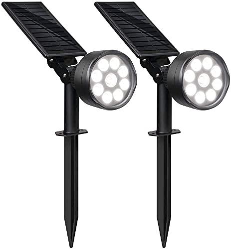 Solar Lights Outdoor, Aootek 2-in-1 Adjustable Outdoor Solar...