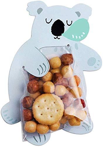 WEHOLY Grußkarten mit Cartoon-Motiv, für Süßigkeiten, Kekse, Tüten für Babypartys, Hochzeiten, Lebensmitteln, Backen, Dekorative Beutel, Koala