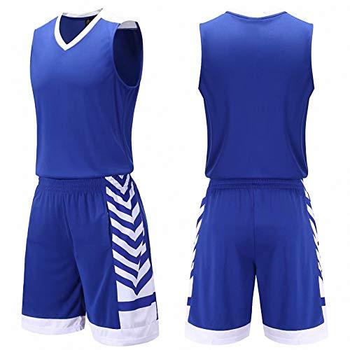 WYNBB Hombres Basketball Deportes Jersey,Verano Football Formación T-Shirts Set,Mujer Badminton Respirable Shorts de Playa,B,Small